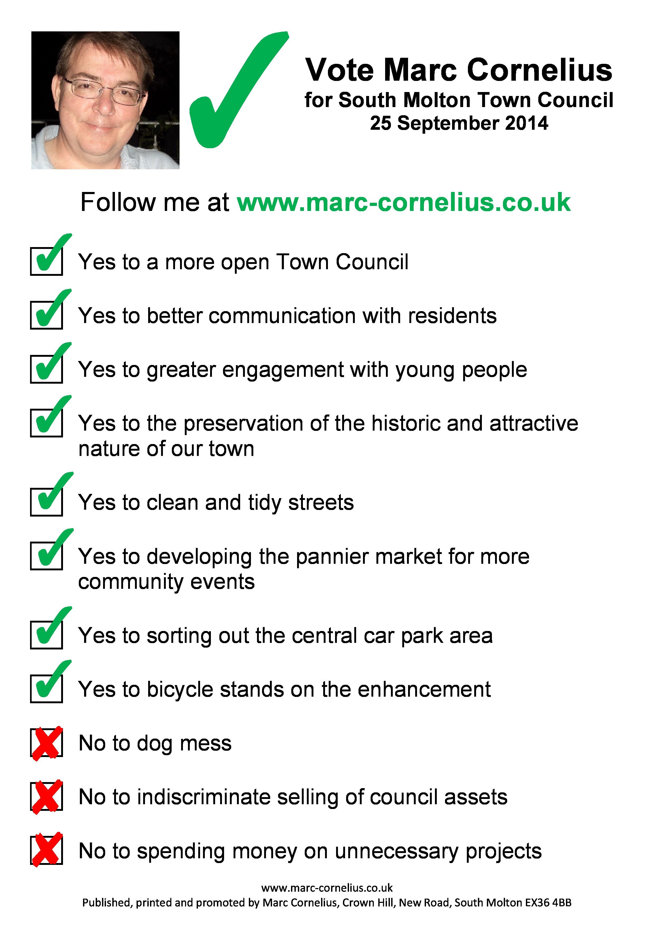 Marc Cornelius Flyer Page 1