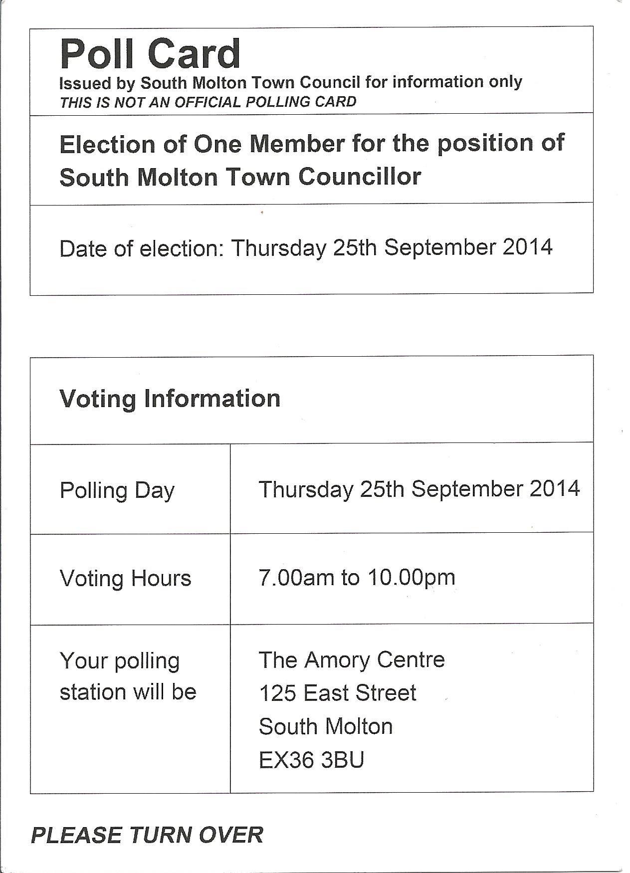 Poll Card Side 1