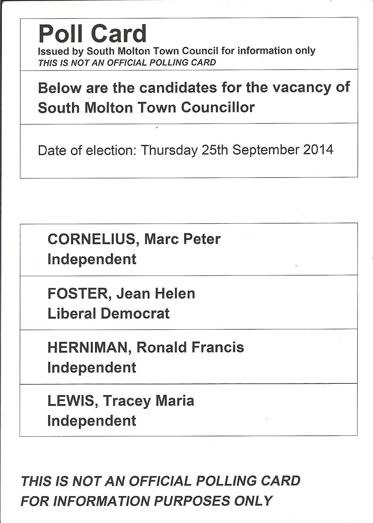 Poll Card Side 2