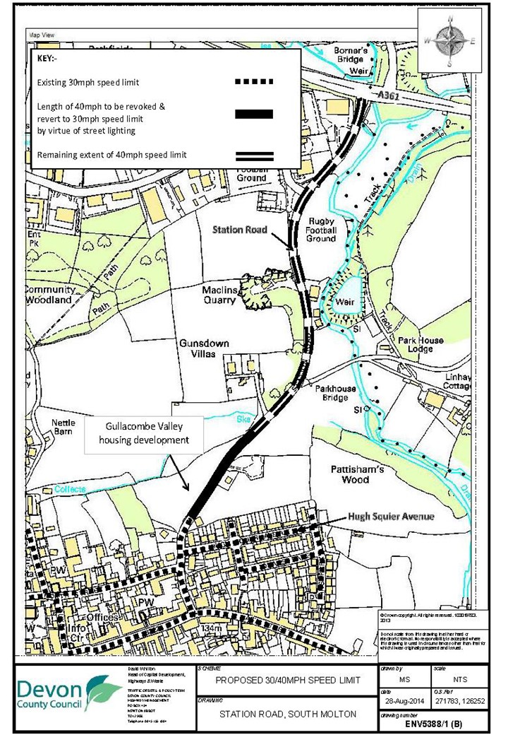 Devon County Council Proposed Speed Limits Station Road