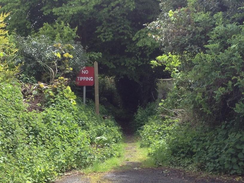 Tucking Mill Lane Public Footpath Sign