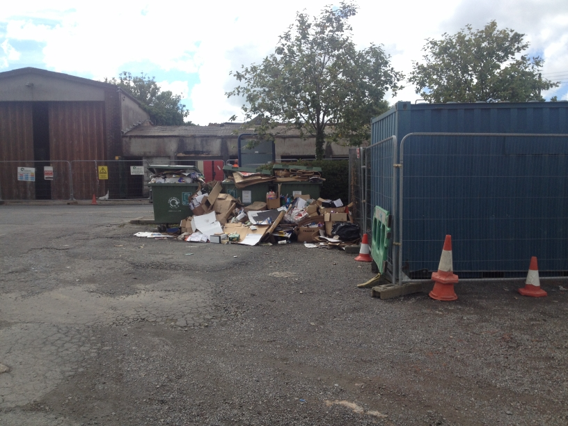 Recycling Rubbish in Lorry Park 1