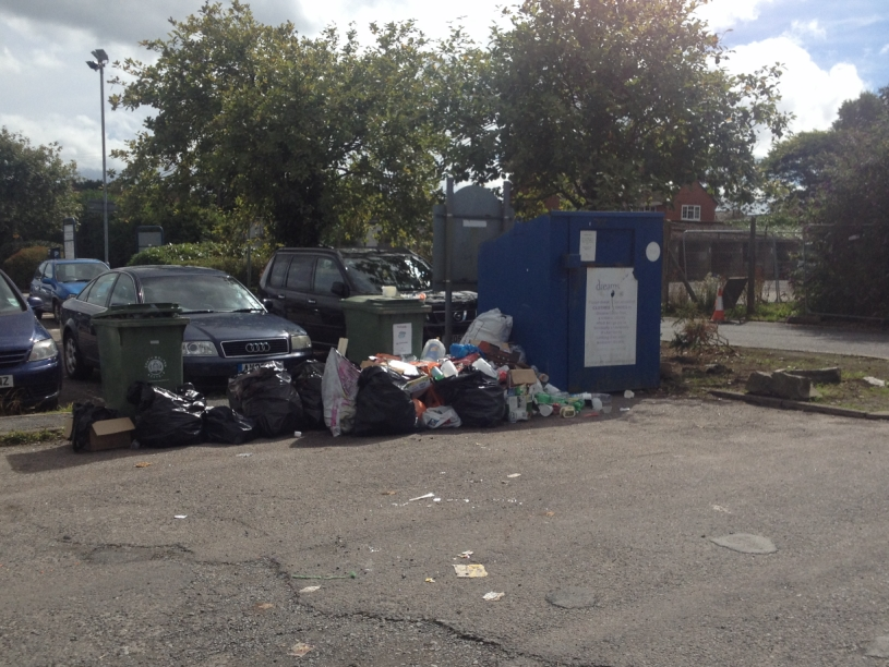 Recycling Rubbish in Lorry Park 2